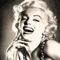 MARILYN MONROE - PRINT ON CANVAS - Stunning Framed Wall Art Sizes - Sepia Tone