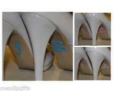 CRYSTAL SHOE STICKERS SOMETHING BLUE - HEN PARTY / WEDDING ACCESSORIES
