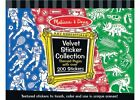 Melissa and Doug * Velvet Collection Sticker - Boy * NEW * arts craft vehicles