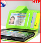 Green Samsung Galaxy S2 i9100 Slim Wallet Credit Card Flip Leather Pouch Case