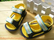 New Boys Yellow & Black Baby Shoes Sandals Size 2,3,4
