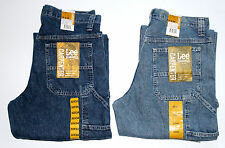 New Lee Carpenter Jeans Dungarees Men`s Sizes Dark and Light Stone Colors