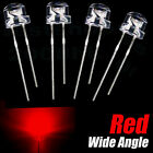 100pcs x 5mm straw hat Red LED 5000MCD Wide Angle Red
