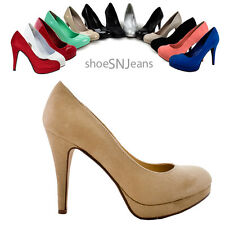 Women High Heel Party Prom Platform Pumps Stiletto Round Toe Delicious shoes