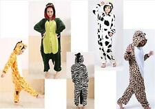 NEW UNISEX ANIMAL ONESIE PYJAMA COSTUME DRESS UP HOODED KIGURUMI ADULTS KIDS UK