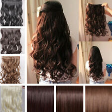 """17""""-26"""" Long New Women Hair Extensions Wavy Curly/Straight Synthetic Clip in on"""