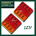 2 x LED Trailer Tail Light Lamp Stop Indicator Tail 12V Submersible Boat Caravan