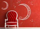 White Window Art Sticker Wall Paper Home Decal Sticker Moon and Star Great Gift!