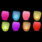1X Chinese Paper Lanterns Sky Fly Wishing Candle Lamp for Wish Party Wedding