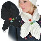 New Womens Wool Knited Winter Stole Scarf-41142