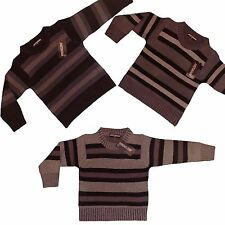 Boys LOVELY New Knitted Cardigan / Jumper Knit 2-12yers Stripped Sweater / Top