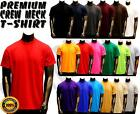 Mens New Various Colors Quality Plain Short Sleeves Crew U-Neck T-Shirt Tee S-6X