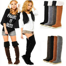 2014 Hot Sell Women's Fashion Over the Knee Flat Heel Warm Winter Long Boots