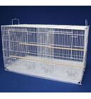 "Aviary Breeding Cage Small Flight w/ Divider, 24""x16""x16"" 2434 White Bird Cage"