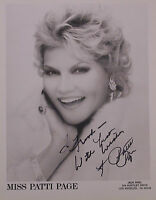 MUSIC ICON PATTI PAGE AUTOGRAPHED 8 X 10 GLOSSY PHOTOGRAPH