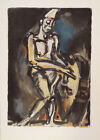 "Georges Rouault ""Clown"" Plate Signed Lithograph"