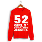 Girls' Generation SNSD Red JESSICA NO.52 Long-sleeved T-shirt S-2XL(DS3)