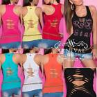 NEW TANK TOPS for WOMEN SINGLET size 6 8 10 12 LADIES SLEEVELESS SHIRT XS S M L