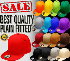 NEW BEST TOP QUALITY HATCO PLAIN SOLID BLANK FITTED HAT ALL COLORS ALL SIZES