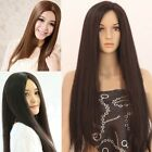 Sexy Women's Straight Long Full Hair Wigs With Middle Bangs Cosplay/Costume Wig