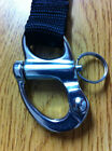 Halyard Stainless Clip Hook Scuba Diving Ring Gear Keeper Snap GC39