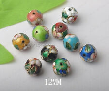 Cloisonne Enamel Round Spacer Beads 10colors( 6MM 8MM 10MM 12MM 14MM 16MM )
