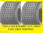 PAIR (2) 16x8-7 KNOBBY C-829 , TWO NEW ATV TIRES TO YOUR DOOR FREE