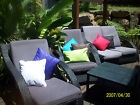 Outdoor Cushions Covers 40x40 or Custom made to your size.. So Popular !!