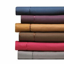 1800 COUNT 4 PIECE DEEP POCKET BED SHEET SET - CHECKERED COLLECTION