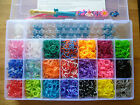 600pcs COLOURFUL RAINBOW RUBBER LOOM BANDS 24 S-CLIPS & A MINI HOOK CRAFT KIT