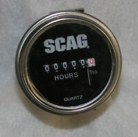 Scag Hour Meter 48023 Fits All Models with Round Cut Out New OEM Free Ship