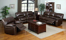 Bonded Leather Sofa Set Sofa Loveseat & Chair 3Pcs Living room Furniture Couch