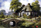 "Blue Castle 1000 Piece Jigsaw puzzles ""Little house in the UK"" / BC620"