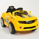 Kids Yellow Camaro Style Ride On RC Car Remote Control Electric Power Wheels MP3