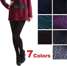 FD1125 Womens Knit Winter Leggings Footed Warm Cotton Stockings Thick New