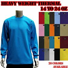MEN'S NEW HEAVYWEIGHT PLAIN THERMAL WAFFLE LONG SLEEVE SHIRTS COLORS BY ACCESS