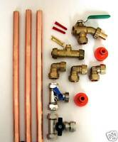 Professional Outside Tap Kit With Valved Garden Hose Branch & Accessories