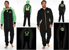 Adult Men Marvel Comics 'Hulk Batman' Glow In The Dark Hooded Jumpsuit New Gift