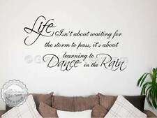 Family Wall Sticker, Inspirational Quote, Dance In The Rain, Waiting For Storm