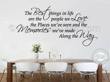 Family Wall Sticker, Inspirational Quote, Best Things In Life, Home Wall Decal,