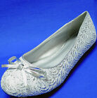 New women's shoes ballet flat ballerina bow sequins casual bling bling silver