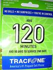 120 MIN.TRACFONE CARD 90 Days + all current bonus code