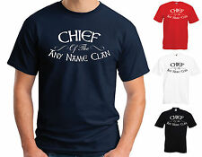 """CHIEF OF THE """"ANY NAME"""" CLAN - PERSONALISED T-SHIRT - BIRTHDAY FATHER'S DAY GIFT"""