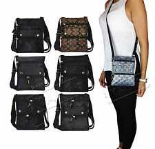 *NEW* Designer Style Ladies Mens Cross Body G Bag Purse Wallet Travel Satchel *