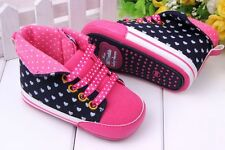 Baby Boys Girl  infant Toddler soft Crib Shoes sneaker size newborn to 18 months