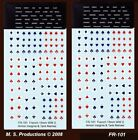 1/144 Decals FR-101 French Insignia + Tank Names FOW