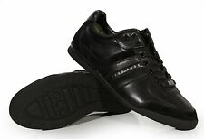 Hugo BOSS Green Men's Leather Shoes Aki Black 50247607 Medium (D, M) Authentic