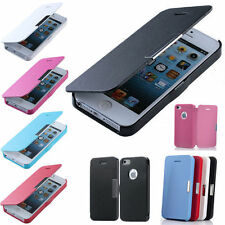New Magnetic Leather Flip Hard Case Cover Skin For Apple iPhone Samsung Galaxy