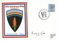WW2 SHAEF VE-Day cover signed by D-Day veteran Richard Todd UACC