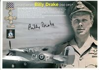 WW2 RAF Battle of Britain ace Drake DFC signed photo